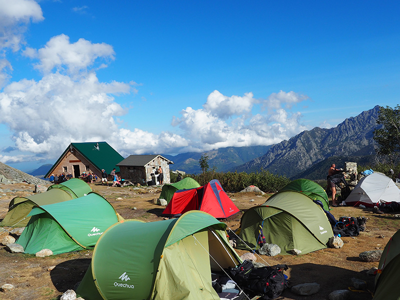 Korsika Wandern auf dem GR20 - Hütte